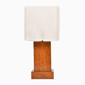 Vintage Art Deco Maple Veneer Table Lamp
