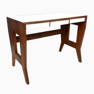 Italienischer Walnuss Schreibtisch von Gio Ponti, 1950er