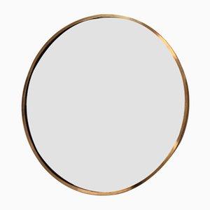 Italienischer Mid-Century Spiegel mit Messingrahmen