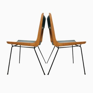 Italian Boomerang Chairs by Carlo de Carli, 1950s, Set of 2