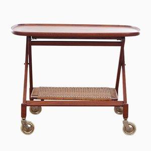 Scandinavian Teak Folding Side Table, 1970s