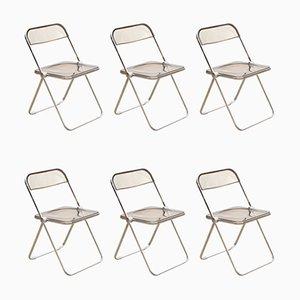 Chaises Pliables par Giancarlo Piretti, années 60, Set de 6