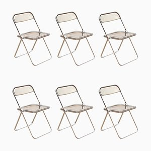 Folding Chairs by Giancarlo Piretti, 1960s, Set of 6