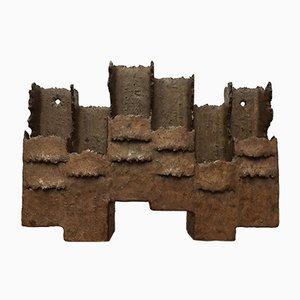 Mid-Century Brutalist Ceramic Sconce