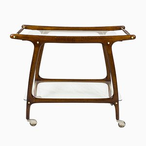 Italian Stained Beech Bar Cart, 1950s