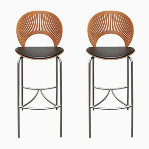 Danish Trinidad Barstools by Nanna Ditzel for Fredericia, 1990s, Set of 2