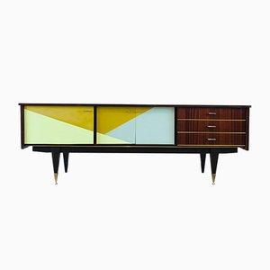 Mahogany Veneer Graphic Gemstone Sideboard, 1960s