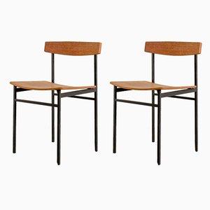 Niederländische Esszimmerstühle aus Teak von Martin Visser, 1960er, 2er Set