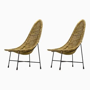 Model Kraal Side Chairs by Kertsin Hörlin Holmqvist for Nordiska Kompaniet, 1950s, Set of 2