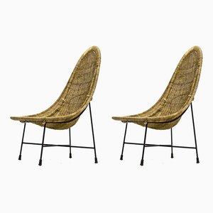 Modell Kraal Beistellstühle von Ketsin Hörlin Holmqvist für Nordiska Kompaniet, 1950er, 2er Set