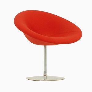 Kleiner roter niederländischer Modell F427 Globe Sessel von Pierre Paulin für Artifort, 1980er