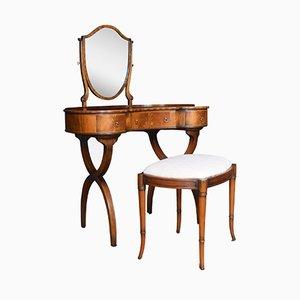 Antique Mahogany Dressing Tables, Set of 2