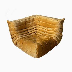 Canapé d'Angle Togo Vintage en Velours par Michel Ducaroy pour Ligne Roset, France