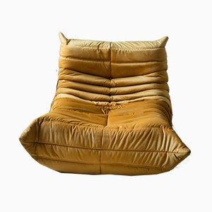 Goldener Togo Vintage Sessel von Michel Ducaroy für Ligne Roset, 1990er