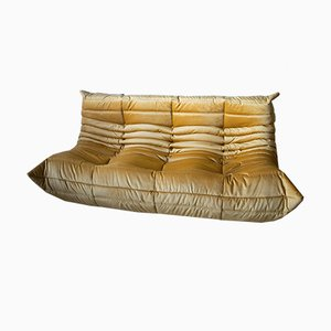 Vintage Goldenrod 3-Seater Togo Sofa by Michel Ducaroy for Ligne Roset, 1990s