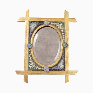 Small 19th Century Mosaic and Giltwood Table Mirror