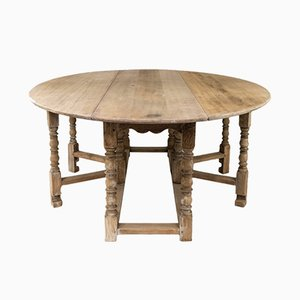 Antique English Oak Dining Table, 1900s