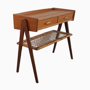 Table Console Mid-Century en Teck, Danemark, années 50