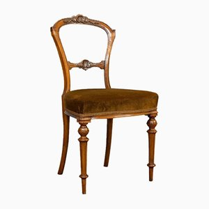 Antique Victorian English Walnut Side Chair