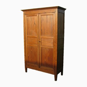 Antique Pitch Pine Wardrobe