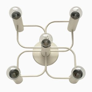 Vintage German Space Age Ceiling Lamp by Gaetano Sciolari for Leola