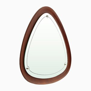 Mid-Century Modern Plywood Mirror, 1960s