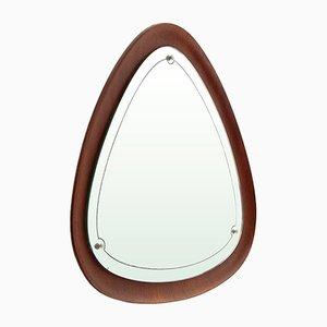 Moderner Mid-Century Spiegel mit Rahmen aus Sperrholz, 1960er