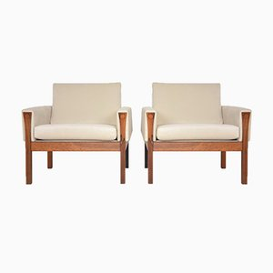 Mid-Century Danish Rosewood Armchairs by Hans J. Wegner, Set of 2