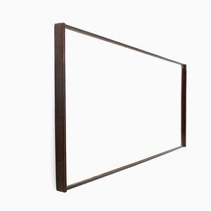 Moderner italienischer Spiegel mit Holzrahmen, 1950er