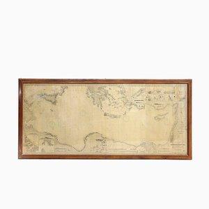 Mappa della sezione orientale del Mar Mediterraneo di Imray, Laurie, Norie & Wilson, 1913