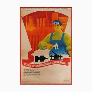 Russian Enter Polytech Poster, 1980s