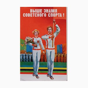 Affiche Under the Banner of Soviet Sports, Russie, 1978