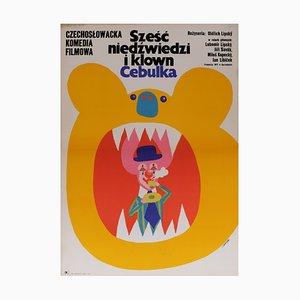 Polish Six Bears and a Clown Film Poster, 1973