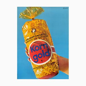 Swiss Korn Gold Advertising Poster, 1960s