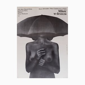Affiche de Film Love in the Rain, Pologne, 1977