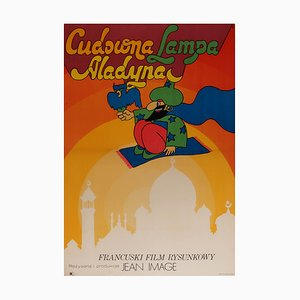 Polish The Wonderful Lamp of Aladdin Film Poster, 1971