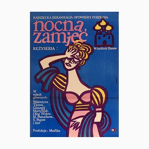 Polish The Blizzard Film Poster, 1964