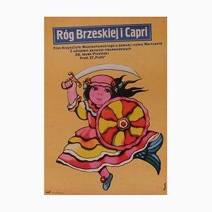 Polish Horn of Brezka and Capri Film Poster, 1979