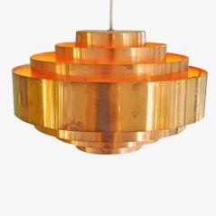 Lampe à Suspension Ultra en Cuivre Orange par Jo Hammerborg pour Fog et Mørup