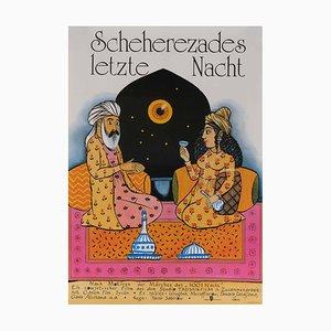 The Last Night of Scheherazade Film Poster, 1989