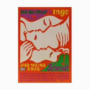 My Wife Inge & My Mistress Schmidt Theatre Poster, 1980s