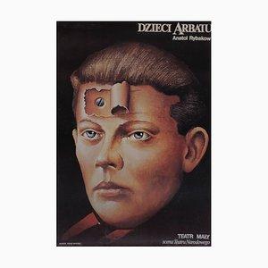 Poster teatrale Child Arbat, anni '80