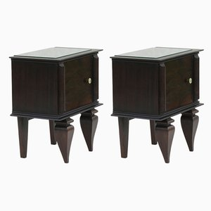 Tables de Chevet Mid-Century, France, 1950s, Set de 2