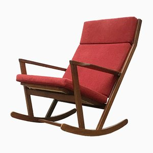 Mid-Century Danish Rocking Chair by Poul Volther for Frem Røjle