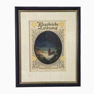 Christmas Edition Cover Lithograph from Verlag Johann Jacob Weber Leipzig, 1920s
