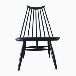 Schwarzer Beistellstuhl von Ilmari Tapiovaara für Asko, 1960er