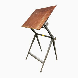 Vintage Drawing Table by Friso Kramer and Wim Rietveld for Ahrend De Cirkel, 1950s