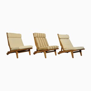 Danish Oak Lounge Chair by Hans J. Wegner for AP stolen, 1960s