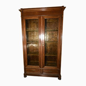 Antique Italian Walnut Bookcase