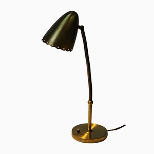 Mid-Century Scandinavian Brass Table Lamp, 1950s